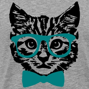 Hipster Kitten Baby Cat with Glasses  T-Shirts - Men's Premium T-Shirt