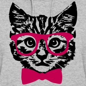 Hipster Kitten Baby Cat with Glasses  Hoodies - Women's Hoodie