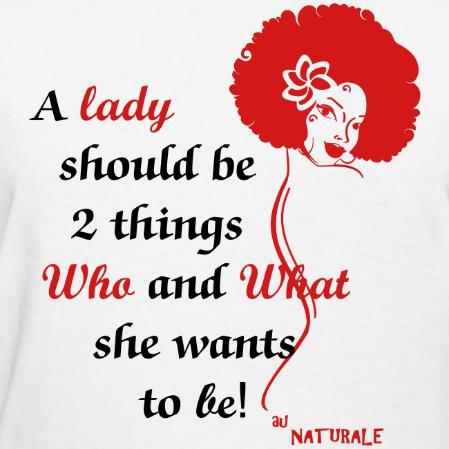 A Lady Should be 2 Things Red
