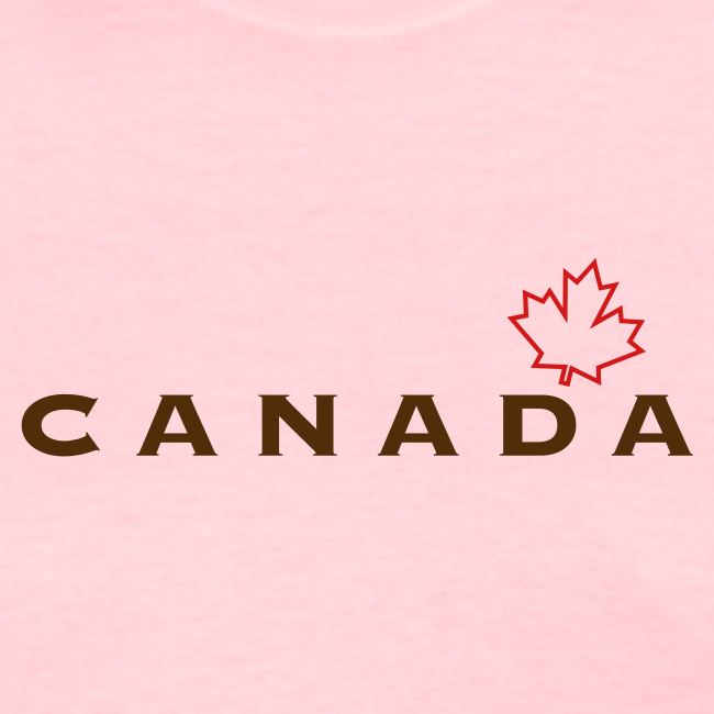 Canada with Leaf Outline