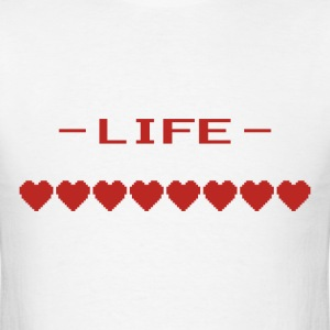Video Game Heart Life Meter T-Shirts - Men's T-Shirt