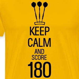 keep calm and score 180 darts Shirt - Men's Premium T-Shirt