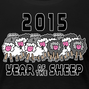 Chinese New Year of The Sheep Ram Goat 2015 - Women's Premium T-Shirt