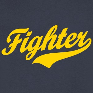 fighter T-Shirts - Men's V-Neck T-Shirt by Canvas