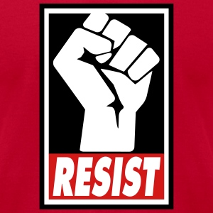 RESIST T-Shirts - Men's T-Shirt by American Apparel