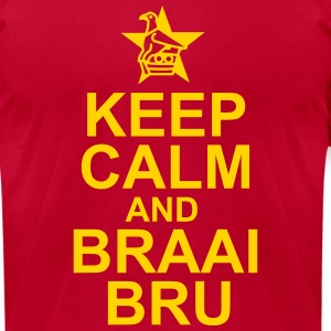 Keep Calm And Braai Bru - Men's T-Shirt by American Apparel