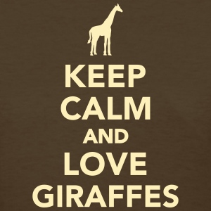 Keep calm and love Giraffes Women's T-Shirts - Women's T-Shirt