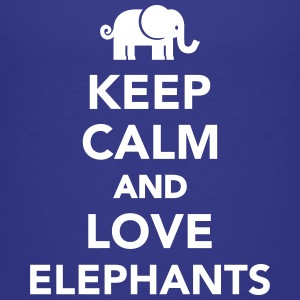 Keep calm and love Elephants Kids' Shirts - Kids' Premium T-Shirt