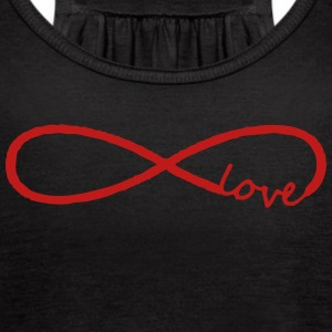 infinity symbol love - Women's Flowy Tank Top by Bella