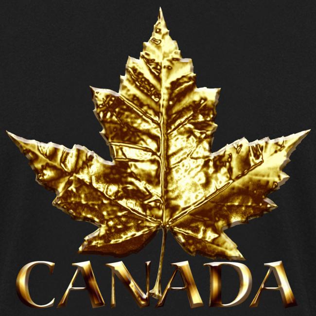 Canada Souvenir Men's Shirt Gold Canada Souvenir Long Sleeve Shirt
