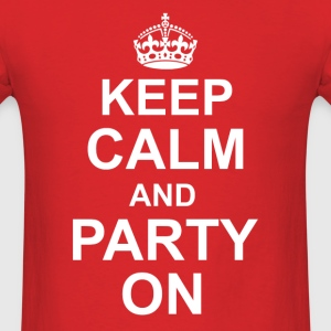 Keep Calm and Party on - Men's T-Shirt
