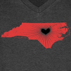 Raleigh Love NC State Wolfpack Edition - Men's V-Neck T-Shirt by Canvas