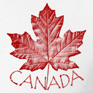 Design ~ Cool Canada Souvenir T-shirt Mens Retro Canada T-shirt