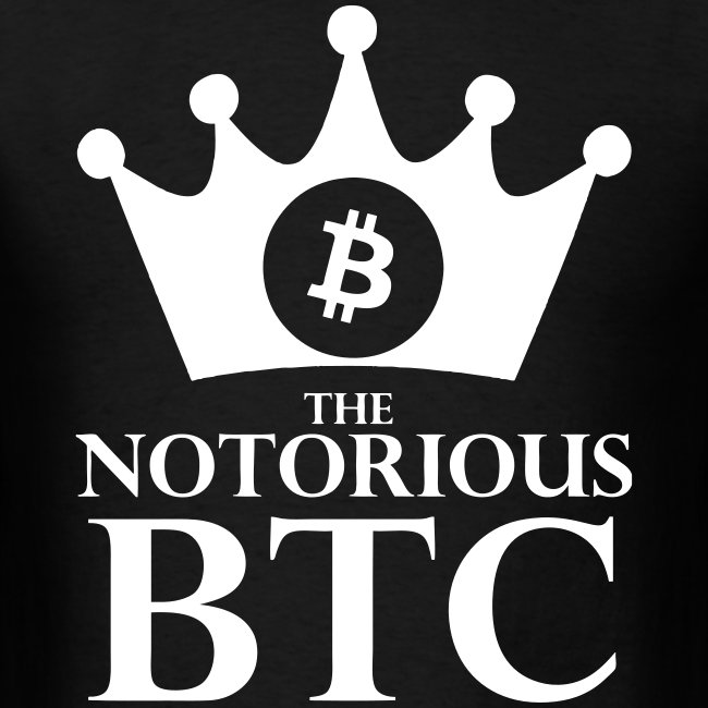 Notorious Bitcoin Black T Shirt