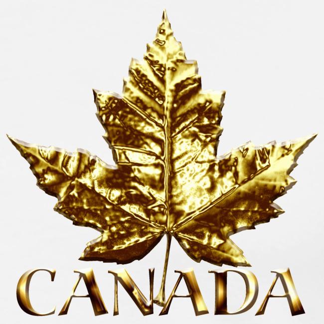 Canada Mens Plus Size T-shirt Gold Canada Souvenir Sm-5xl T-shirt