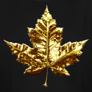 Design ~ Canada Mens Plus Size T-shirt Gold Canada Souvenir XXXL T-shirt