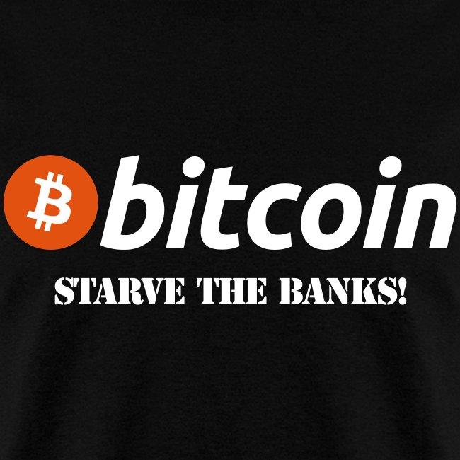 Bitcoin Starve Banks Black T Shirt