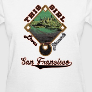 Giants This Girl Loves Diamonds San Francisco  - Women's T-Shirt