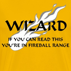 Wizard - Fireball Range - Men's Premium T-Shirt