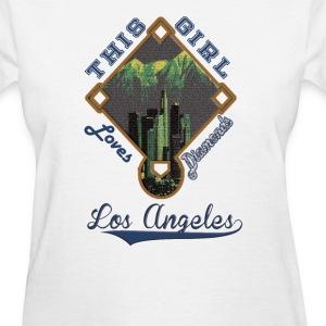 Los Angeles Dodgers This Girl Loves Her Diamonds  - Women's T-Shirt