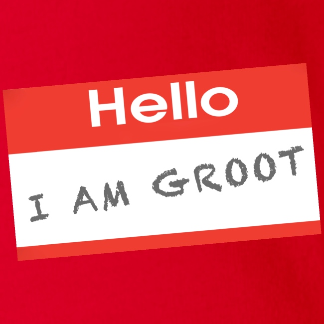 Hello I Am Groot Name Tag - Baby Onesie