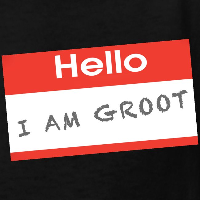 Hello I Am Groot Name Tag - Kids Shirt