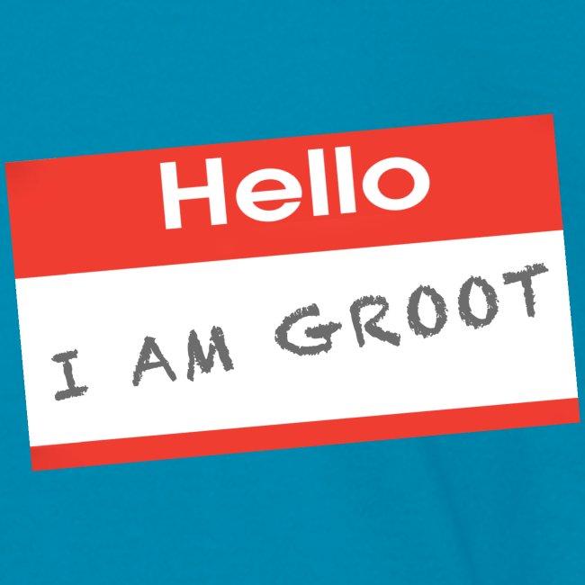 Hello I Am Groot Name Tag - Kids Shirt