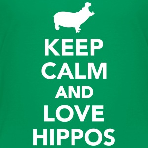 Keep calm and love Hippos Kids' Shirts - Kids' Premium T-Shirt