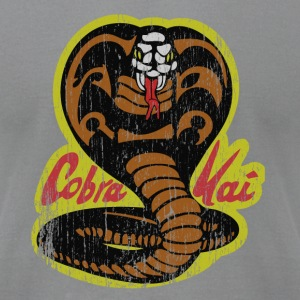 Slate Cobra Kai T-Shirts T-Shirts - Men's T-Shirt by American Apparel