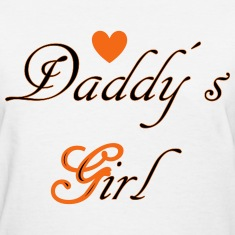 Daddys Girl with Heart Women's T-Shirts