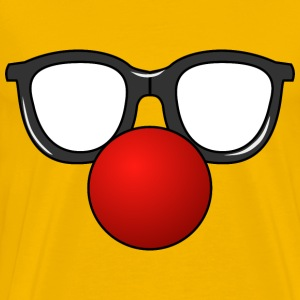 Clown Nose with Glasses - Men's Premium T-Shirt
