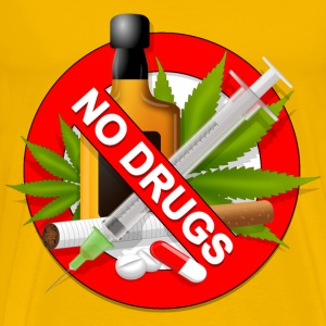 AntiDrugs Sign - Men's Premium T-Shirt