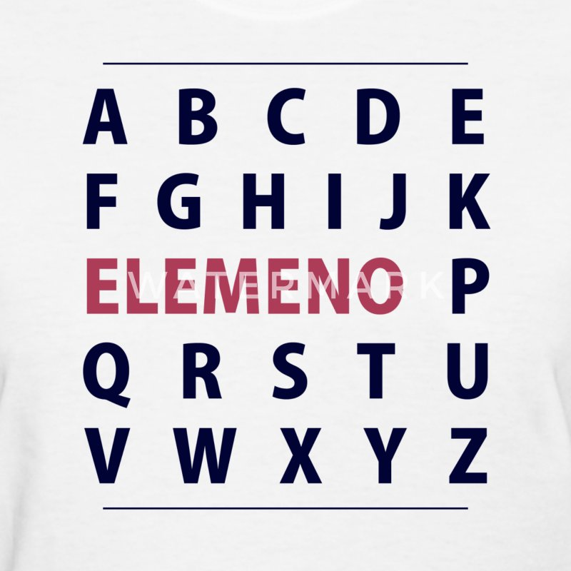 English Alphapbet ELEMENO Song Women's T-Shirts - Women's T-Shirt