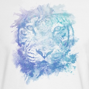 Tiger Face - Abstract Creative Watercolor Style Long Sleeve Shirts - Men's Long Sleeve T-Shirt