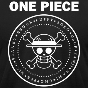 ONE PIECE BLACK T-Shirts - Men's T-Shirt by American Apparel