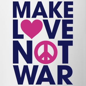 Make Love Not War Bottles & Mugs - Contrast Coffee Mug