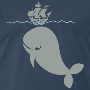 Wal under pirate ship Shirt - Men's Premium T-Shirt