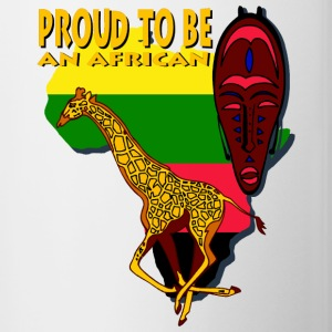 Proud To Be An African Bottles & Mugs - Contrast Coffee Mug