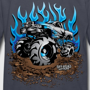 Mud Truck Blue Flame Kids' Shirts - Kids' Long Sleeve T-Shirt