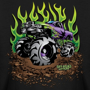 Mud Truck Green Flame Kids' Shirts - Kids' Long Sleeve T-Shirt