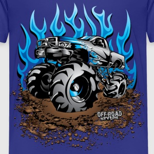 Mud Truck Blue Flame Baby & Toddler Shirts - Toddler Premium T-Shirt