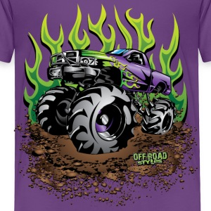 Mud Truck Green Flame Baby & Toddler Shirts - Toddler Premium T-Shirt