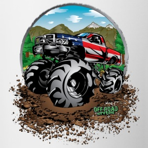 Mud Truck USA Bottles & Mugs - Contrast Coffee Mug
