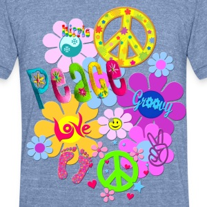 Hippie - Unisex Tri-Blend T-Shirt by American Apparel