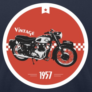 Vintage Motorcycle T-Shirts - Men's T-Shirt by American Apparel