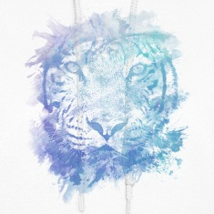 Tiger Face - Abstract Creative Watercolor Style Hoodies