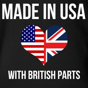 made_in_usa_with_british_parts Baby & Toddler Shirts - Short Sleeve Baby Bodysuit