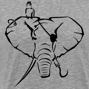 Elephants as a pirate Shirt - Men's Premium T-Shirt