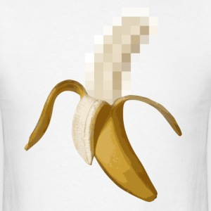 Dirty Censored Peeled Banana T-Shirts - Men's T-Shirt