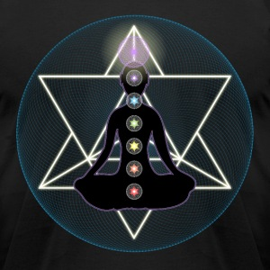 Meditate Yoga Chakras T-Shirts - Men's T-Shirt by American Apparel